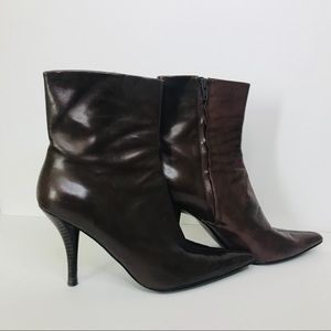 Nine West NWBHavin Brown Ankle Boots Leather